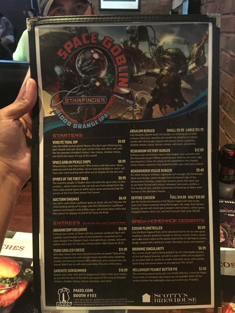 Annual Wednesday dinner at Scotty's Brewhouse. I love the themed menus.