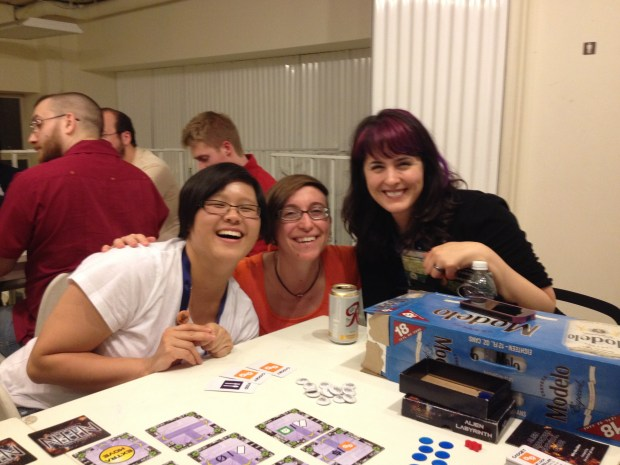 Nina, Nicole, and Trin were laughing too hard to get a non-blurry photo!