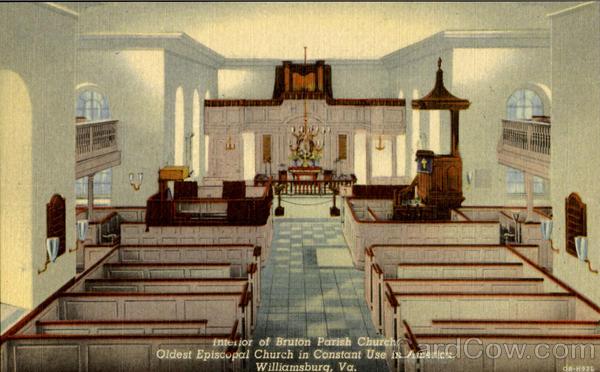 Interior Of Bruton Parish Church Williamsburg VA