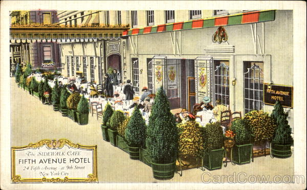 The Fifth Avenue Hotel, 24 Fifth Avenue 9th Street Antique Postcard