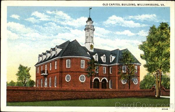 Old Capitol Building Williamsburg VA