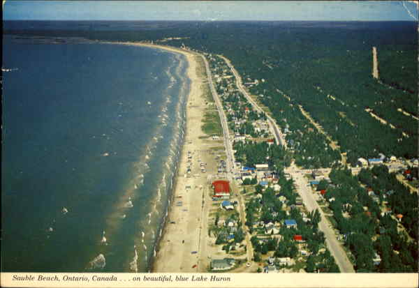 Sauble Beach On Beautiful Blue Lake Huron Ontario Canada