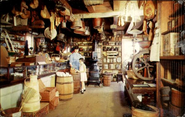 Mystic Seaport Interior Of The General Store Connecticut
