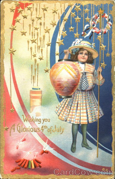 Wishing You A Glorious 4th Of July Postcard