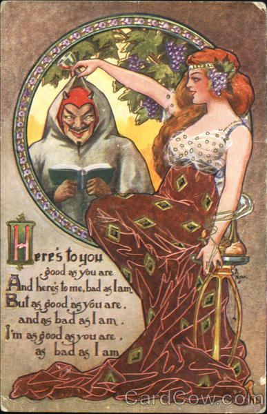 Eve And The Devil Art Nouveau