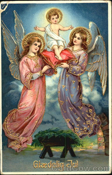 Two Angels Holding A Baby