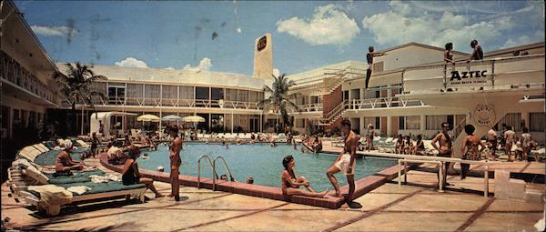 The Beautiful Aztec Motel Swimming Pool Miami Beach FL