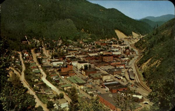 Aerial View Of Wallace Idaho