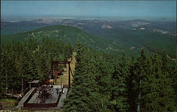 Terry Peak Chairlife Seen From Fire Lookout Black Hills SD