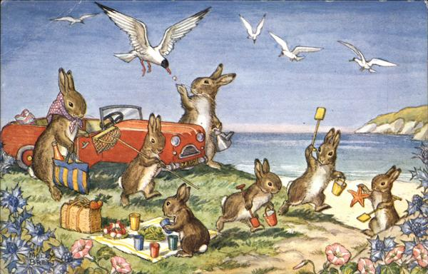 A Day By The Sea By Molly Brett Dressed Animals