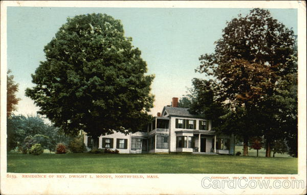 Residence of Rev. Dwight L. Moody Vintage Postcard