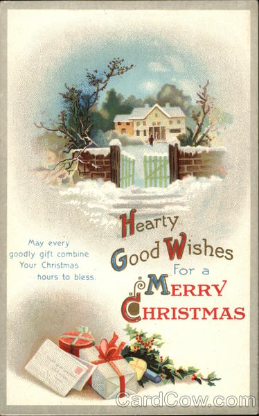 Hearty Good Wishes For A Merry Christmas