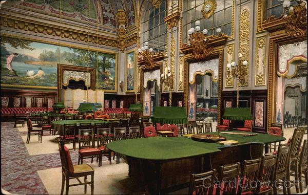 Interior Of The Casino La Salle Touzet Trente Et Quarante Monte Carlo Monaco