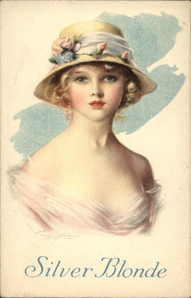 Silver Blonde Women Trade Card