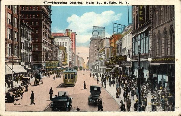 Shopping District, Main Street Buffalo, NY
