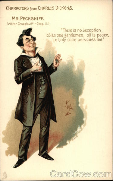 Mr Pecksniff Character From Charles Dickens Novel