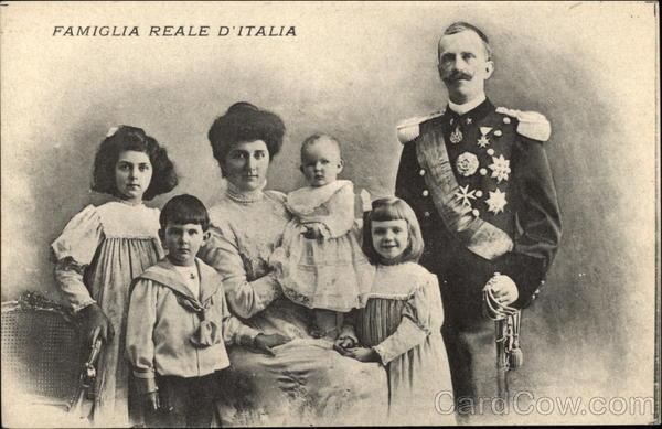 Italian Royal Family Victor Emmanuel III Queen Elena