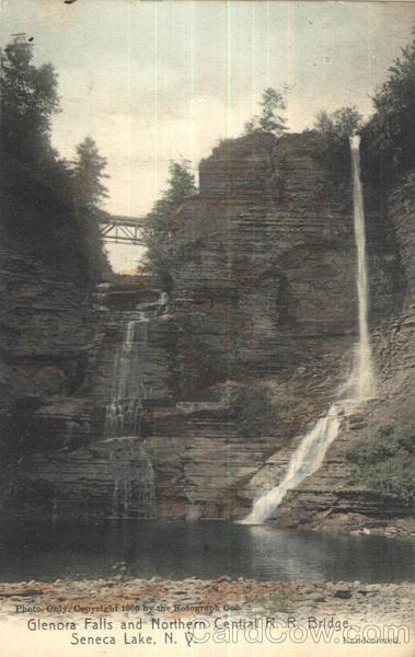 Glenora Falls And Northern Central R R Bridge Seneca