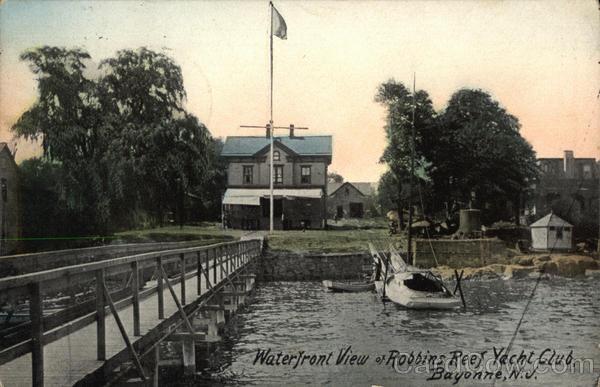 Robbins Reef Yacht Club Bayonne NJ Postcard