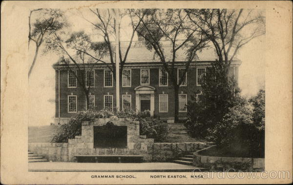 Grammar School North Easton MA Postcard