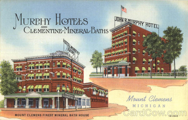 Murphy Hotels And Clementine Mineral Baths Mount Clemens Mi