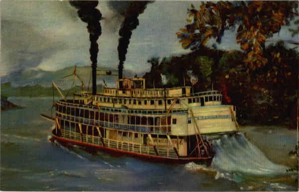 An Old Fashioned Mississippi River Stern Wheeler Riverboats