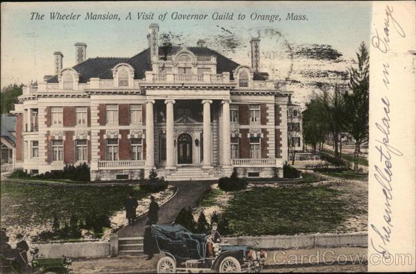 The Wheeler Mansion Orange MA Postcard