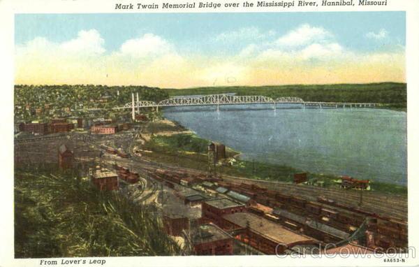 Mark Twain Memorial Bridge Over Mississippi River Hannibal MO