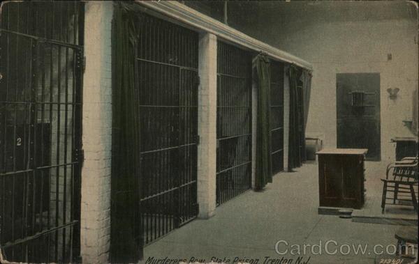 Murderer S Row State Prison Trenton Nj Postcard