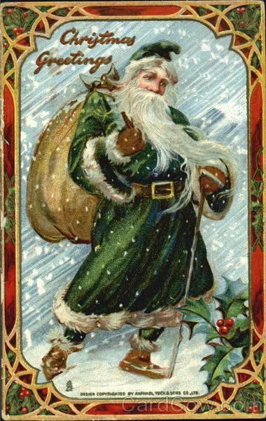 Green Robe Santa Santa Claus