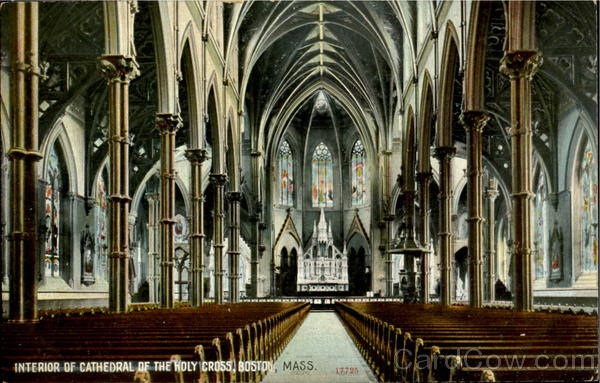 Interior Of Cathedral Of The Holy Cross Boston MA