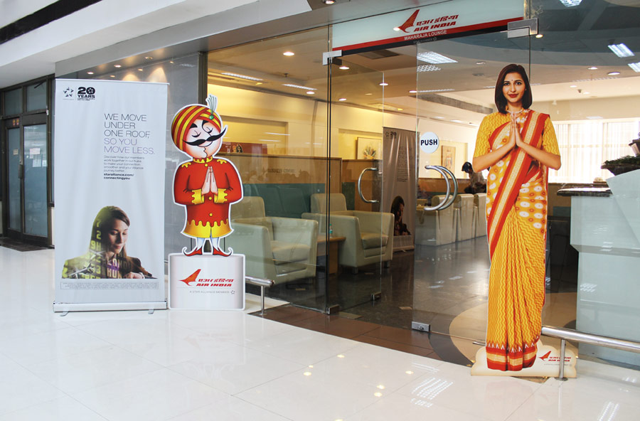 Air India Maharaja Business Class Lounge - Entrance