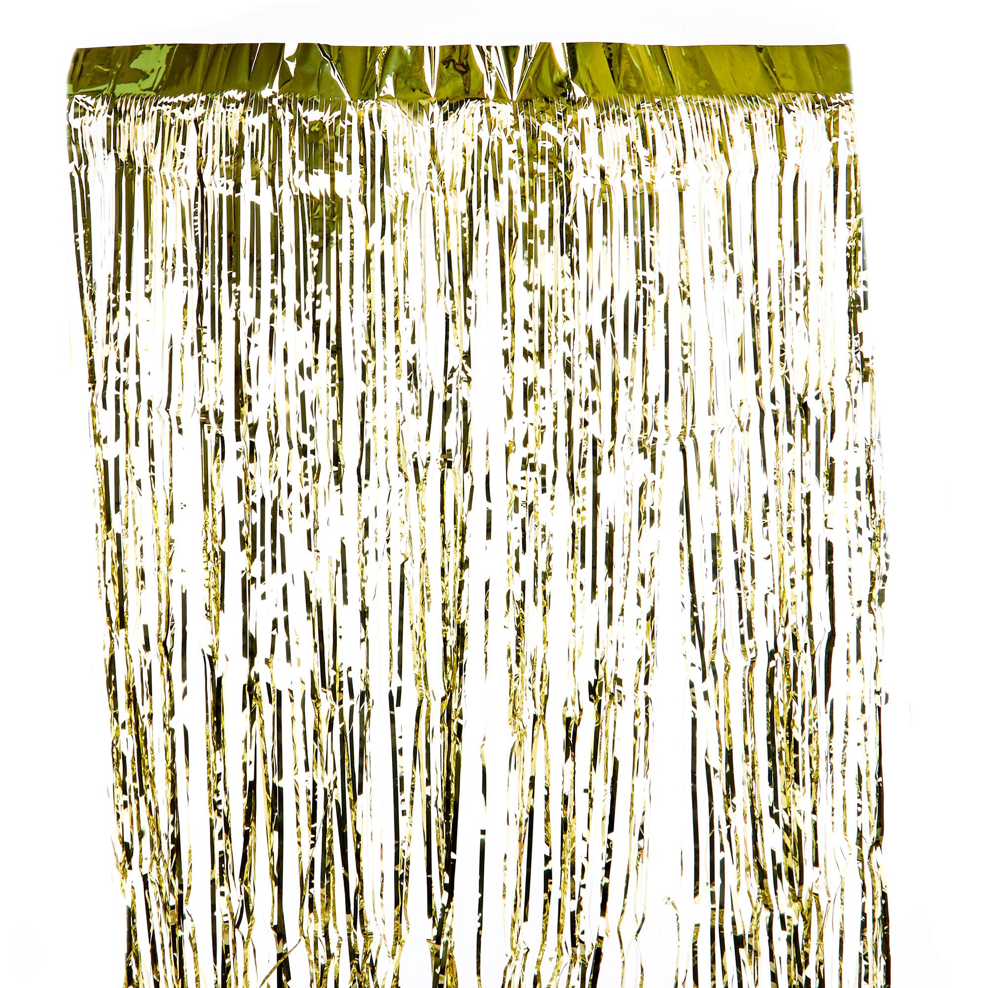 gold foil fringe door curtain