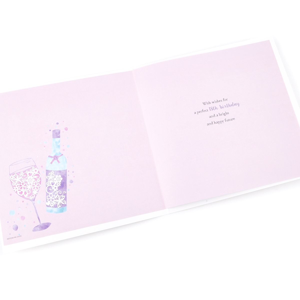 exquisite collection 18th birthday card any female recipient stickers included