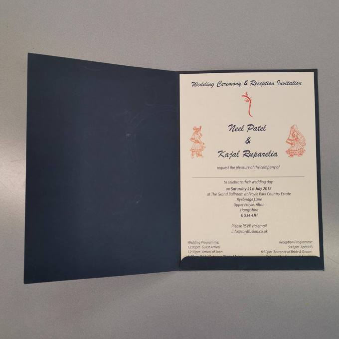 Dark Blue Hindu Wedding Card – CFK15