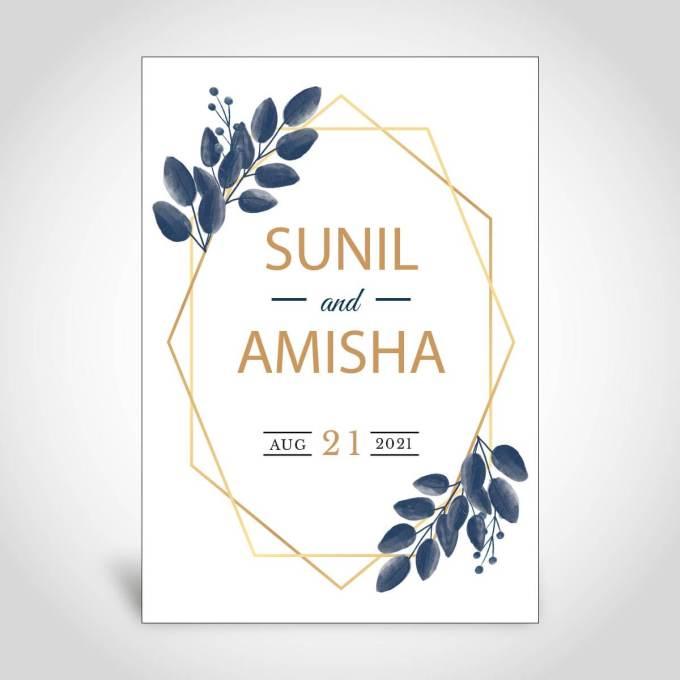 Floral Wedding Card – CFK160