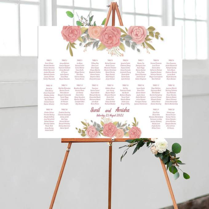 Floral Wedding Seating Chart – 10