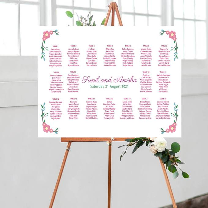 Floral Wedding Seating Chart – 5