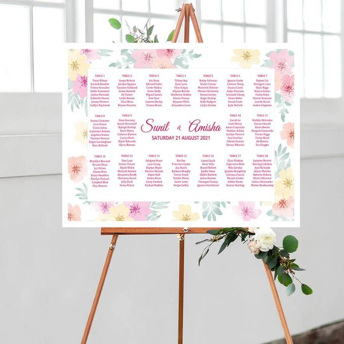 Floral Wedding Seating Chart – 7