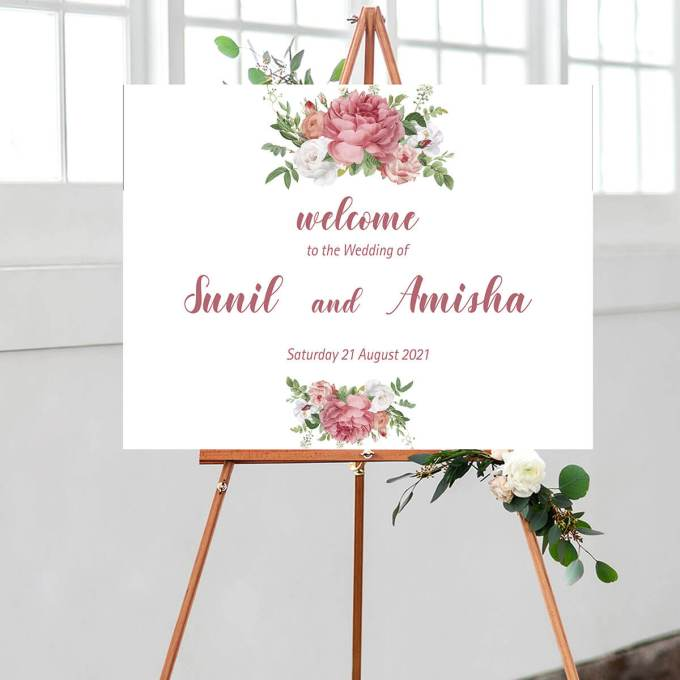 Floral Wedding Welcome Sign – 11
