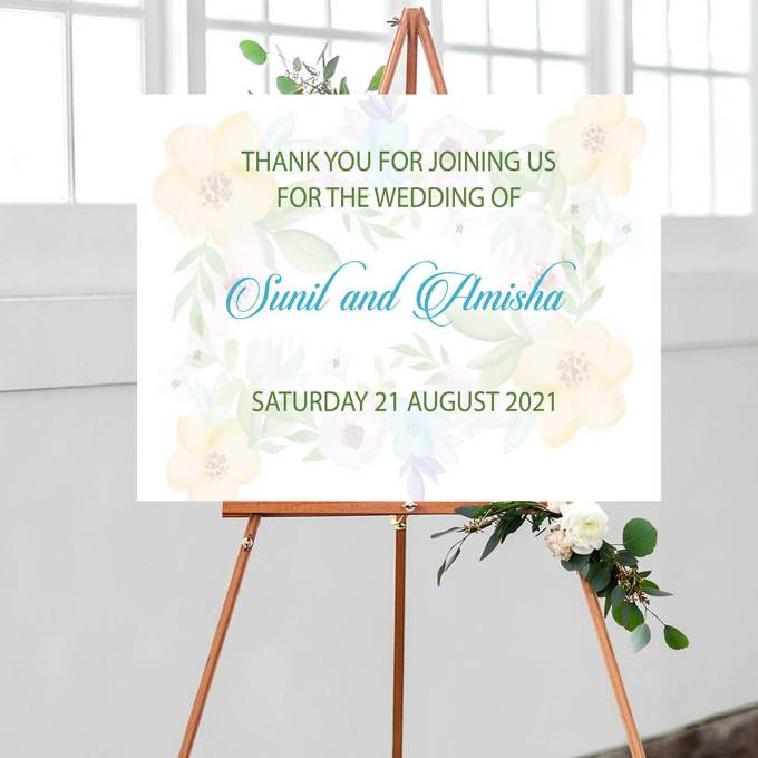 Floral Wedding Welcome Sign – 3