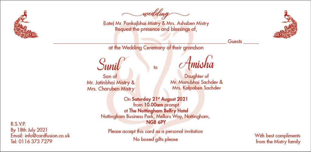 Indian Wedding Cards UK Checklist CardFusion