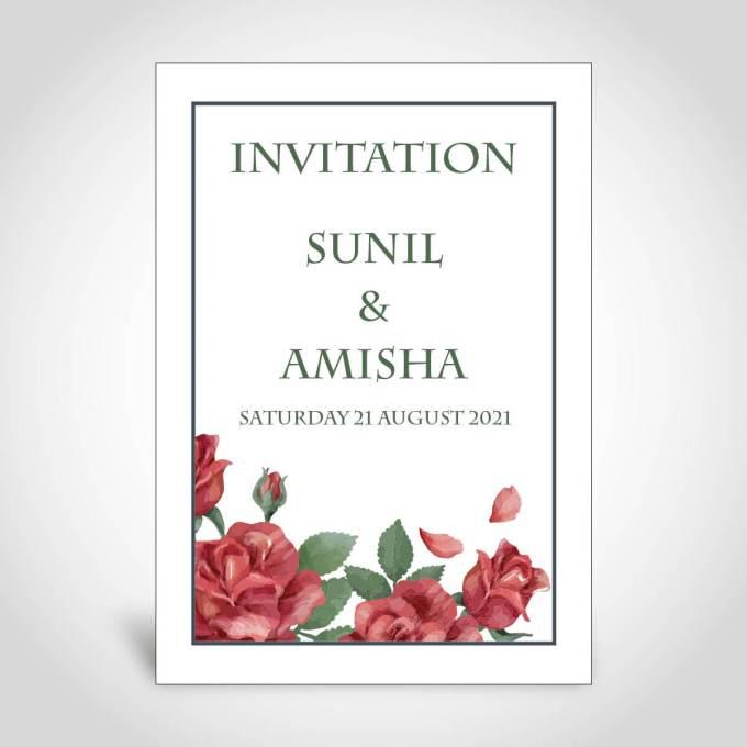 Hindu Floral Wedding Invitation Card – CFK182
