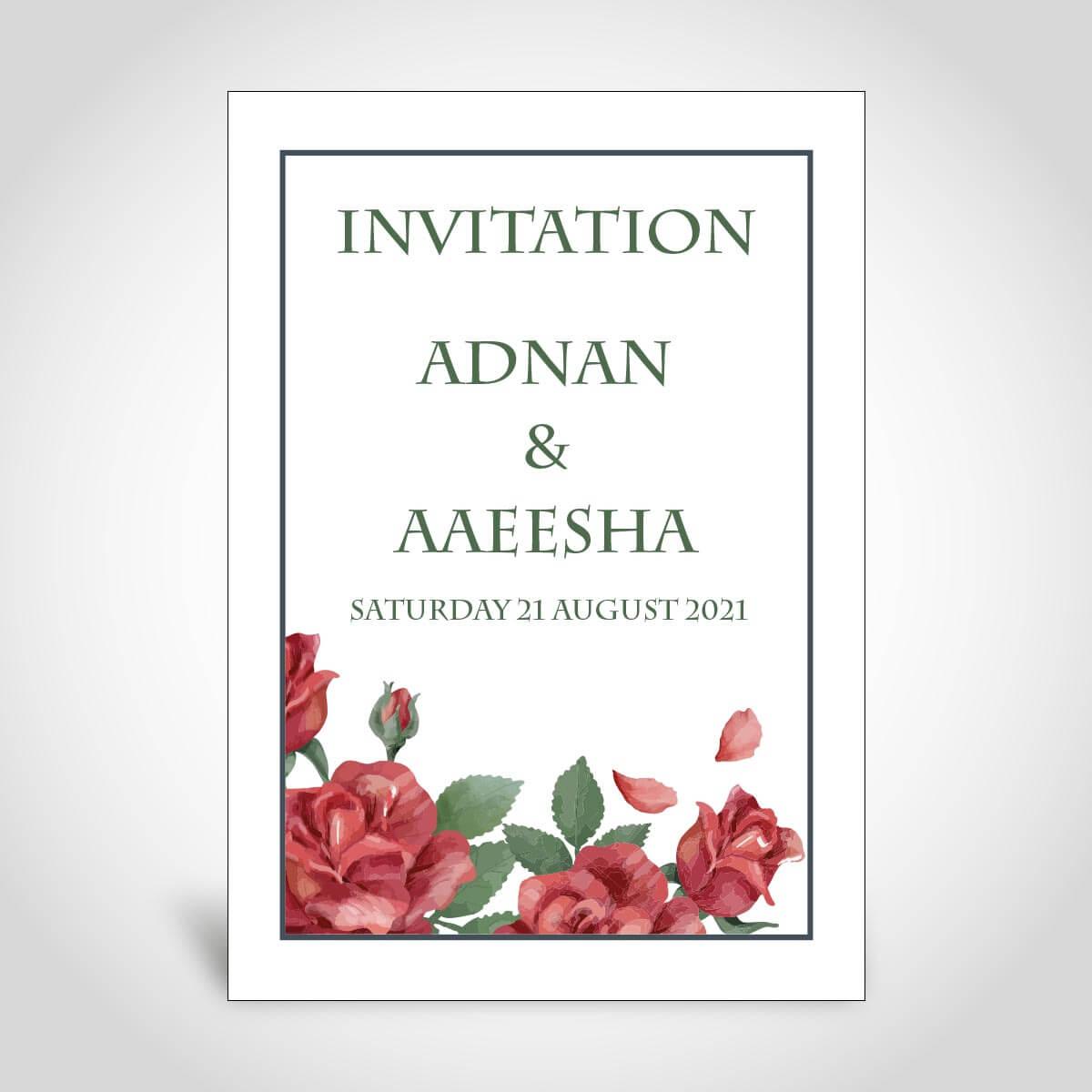 muslim floral wedding invitation card  cfm182