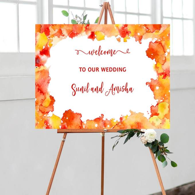 Wedding Welcome Sign – Border – 1