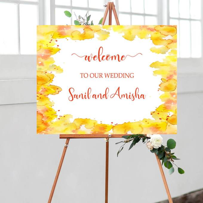 Wedding Welcome Sign – Border – 2