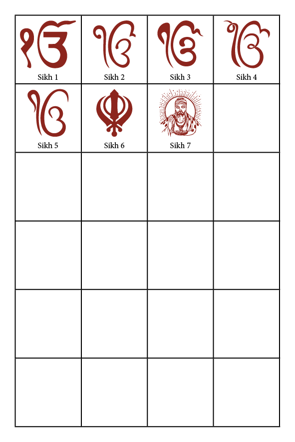 Sikh Wedding Symbols CardFusion