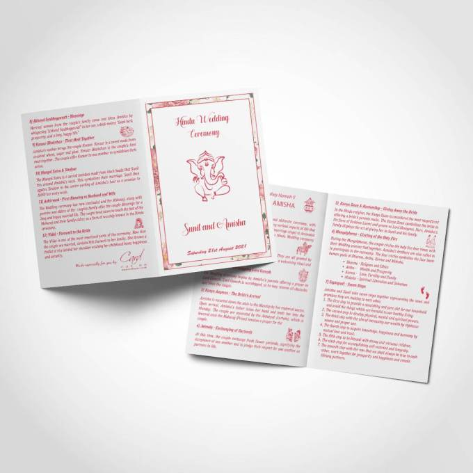 Hindu Wedding Order of Service Booklet – 2