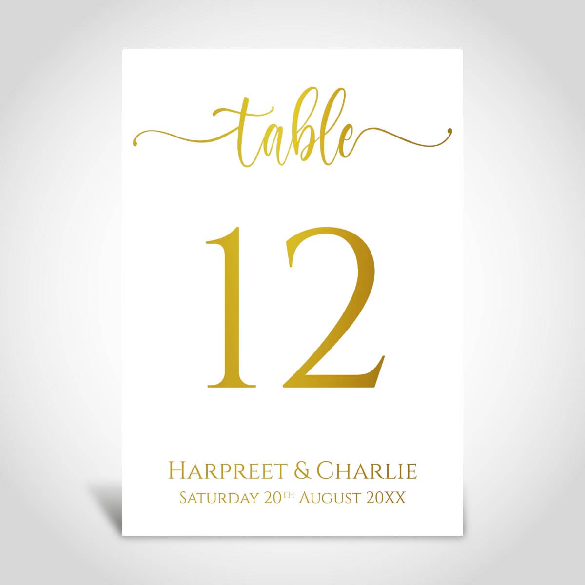 Table Numbers for Wedding Reception CardFusion