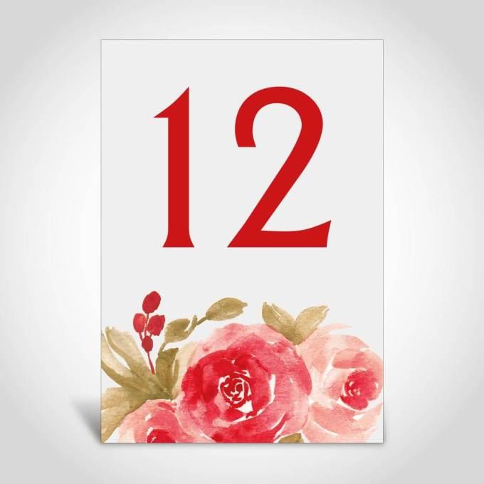 Floral Wedding Table Number – 12